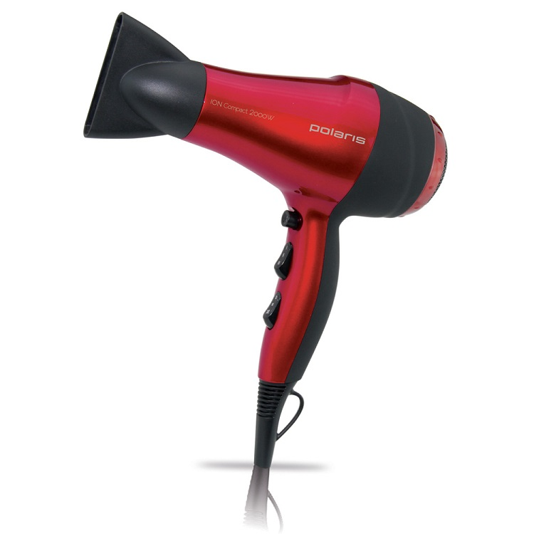 Фен PHD 2077i (Polaris) , Красно-черный цены онлайн