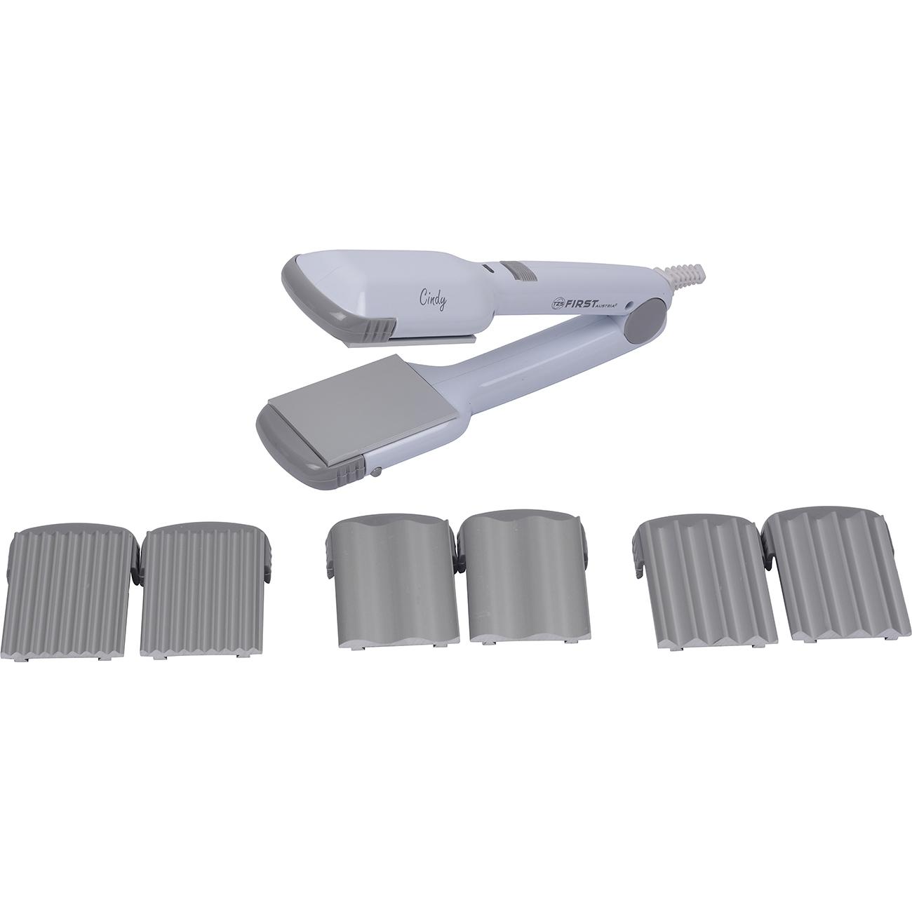 Выпрямитель волос FIRST AUSTRIA FA-5670-1-GR, 25 Вт., 4 вида пластин, световой индикатор, белый/серый цена и фото