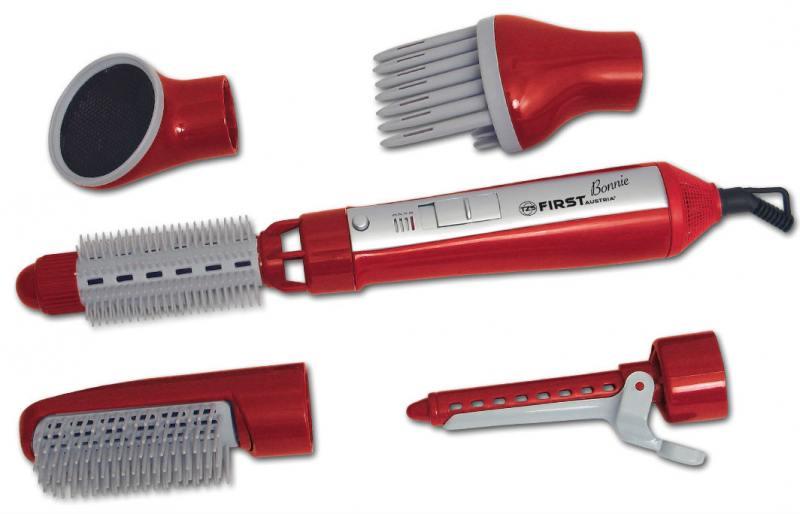 Фен-щетка FIRST AUSTRIA FA-5651-1-RE, набор для укладки, 550 Вт., 5 насадок, красный тепловентилятор first fa 5571 8 re 2000 вт красный