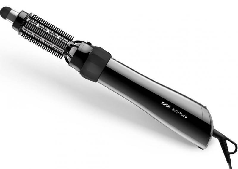цены Фен-щетка Braun AS 530 MN чёрный 1000 Вт