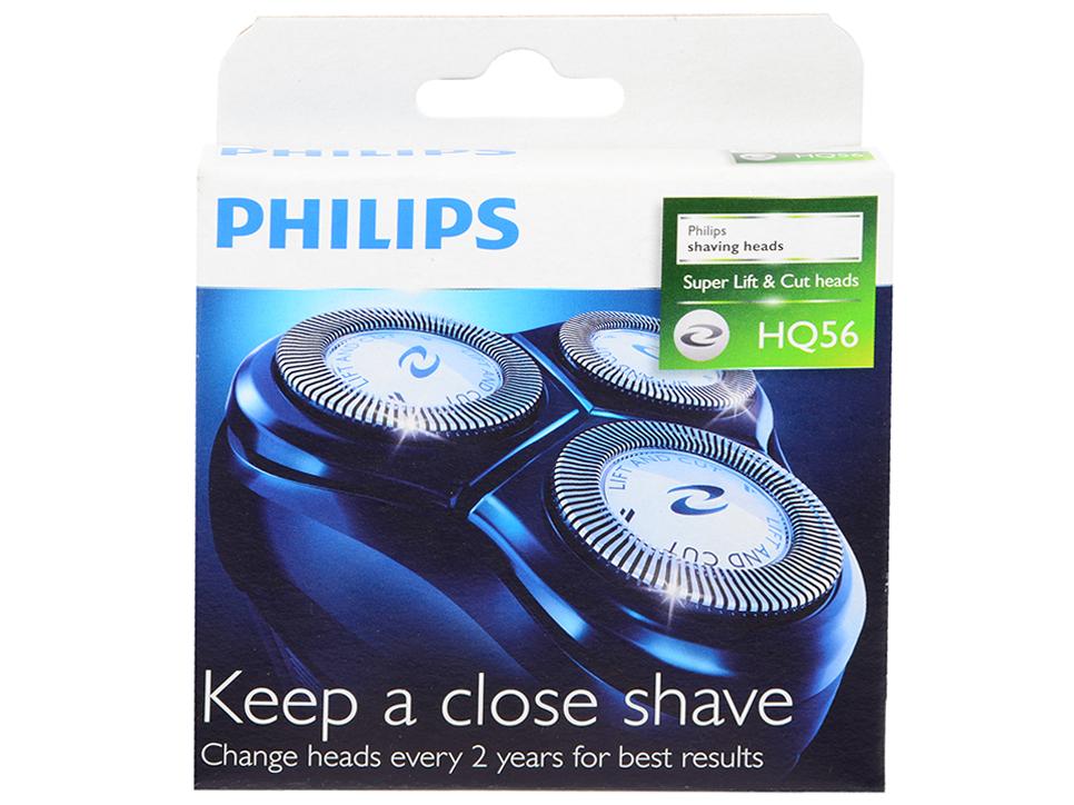 Бритвенная головка Philips HQ56/50 philips tt2000 43 бритвенная головка для триммеров серий tt2021–tt2030
