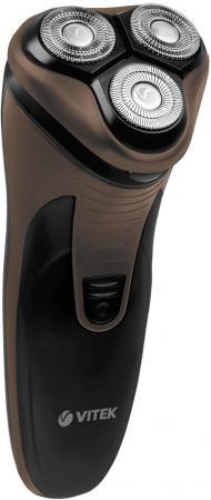 Электробритва Vitek VT-8267(BN) черный коричневый цена и фото