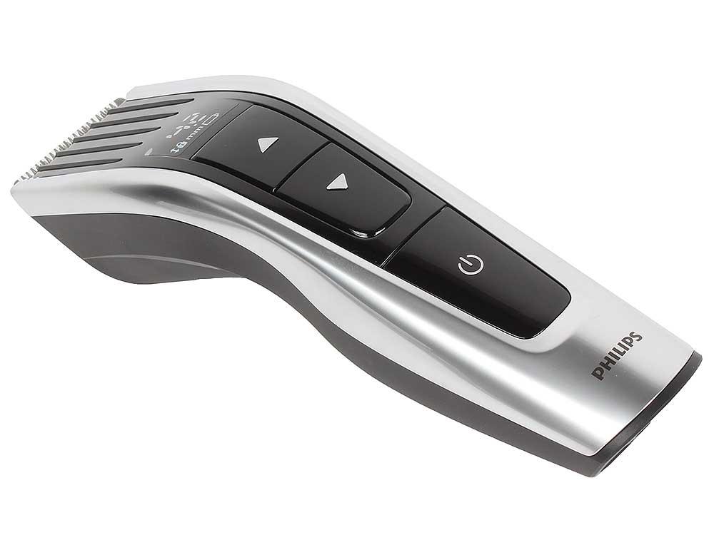 Машинка для стрижки Philips HC7460/15, самозаточка, аккум. на 120мин, 60 установок длины, набор насадок, серебристый/черный машинка для стрижки philips hc5410 15