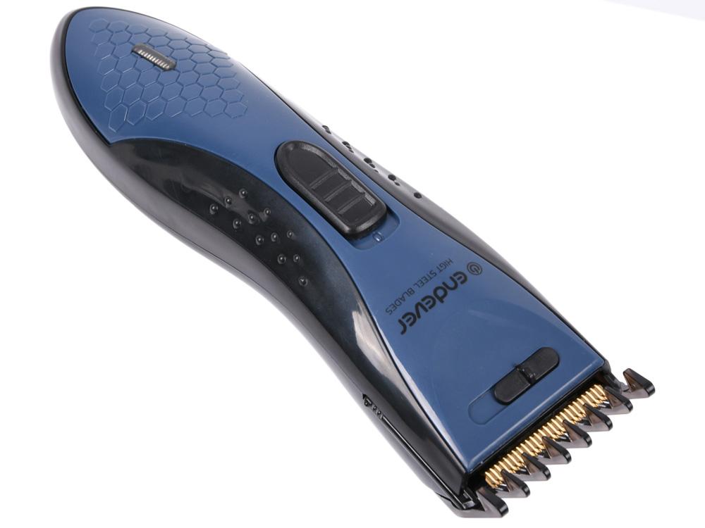 Машинка для стрижки Endever Sven 972 аккумуляторная, кнопка для регулировки высоты лезвия от 0.8 до 1,8 мм., насадка 3/6/9/12/15/18 мм машинка для стрижки волос endever sven 980
