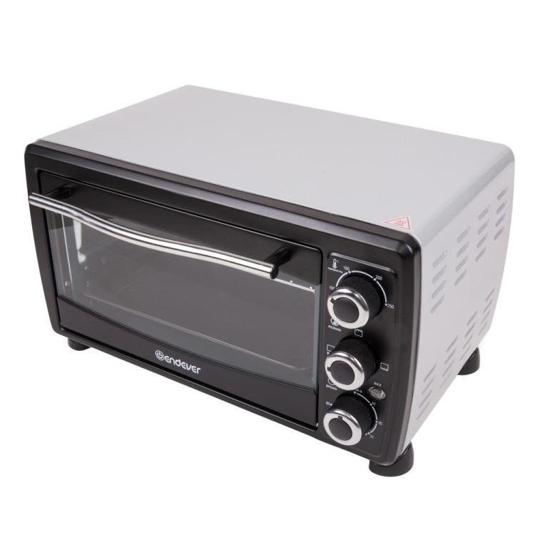 Мини-печь Endever Danko 4008, черный, 18 литров, 1500 Ватт, таймер 60 мин, темп. до 250 градусов, три режима приготовления мини печь supra mts 342 черный