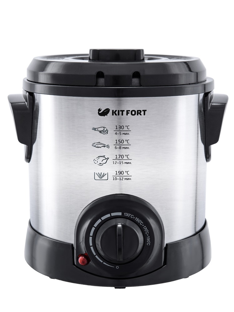 Фритюрница Kitfort KT-2011 1200Вт серебристый/черный цена