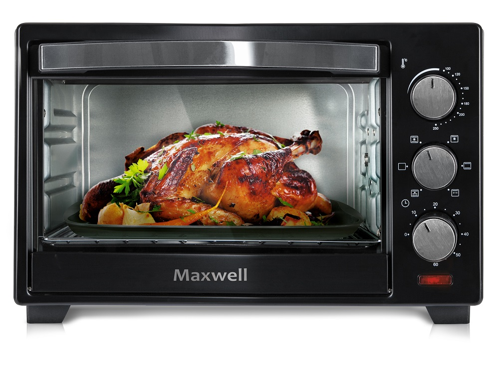 Мини-печь Maxwell MW-1854(BK) 1280 Вт, 19 л, 250 °С цена и фото