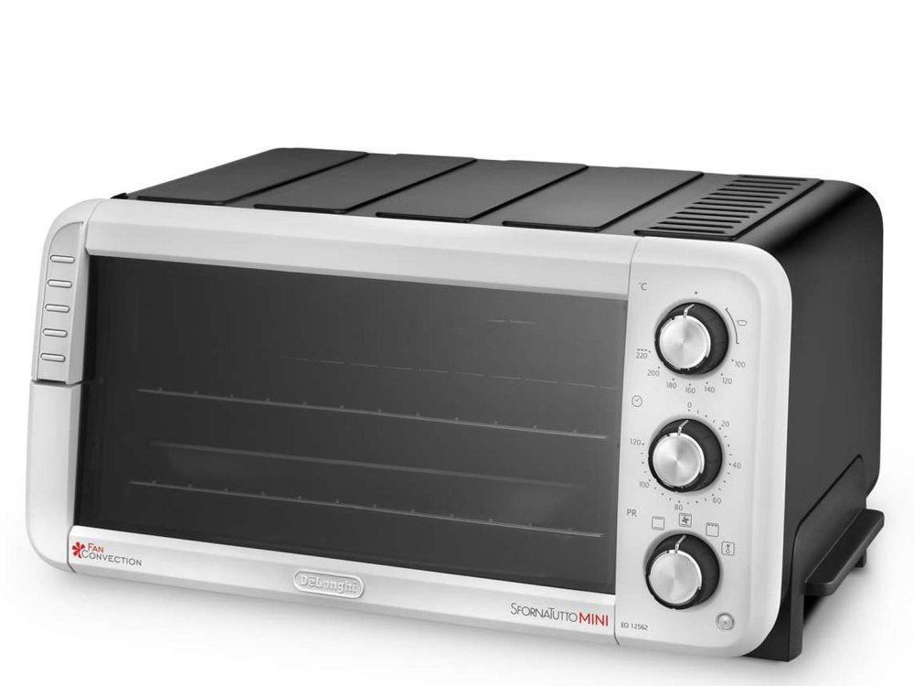 Мини-печь DeLonghi EO12562 белая/ чёрная, гриль, конвекция, таймер гриль delonghi bg 500c