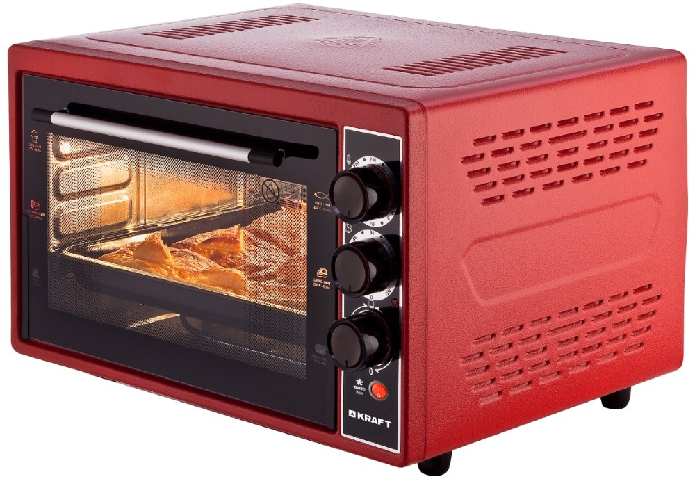 Мини-печь Kraft KF-MO3804KR красный