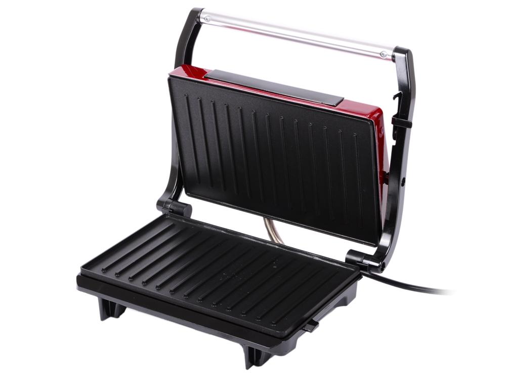 лучшая цена Бутербродница Kitfort Panini Maker KT-1609 красный чёрный