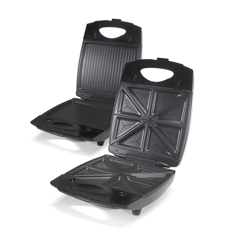 Сэндвичница-Гриль UNIT UDM-3110 Чёрный 1300Вт, два комплекта сменных панелей 22х27см