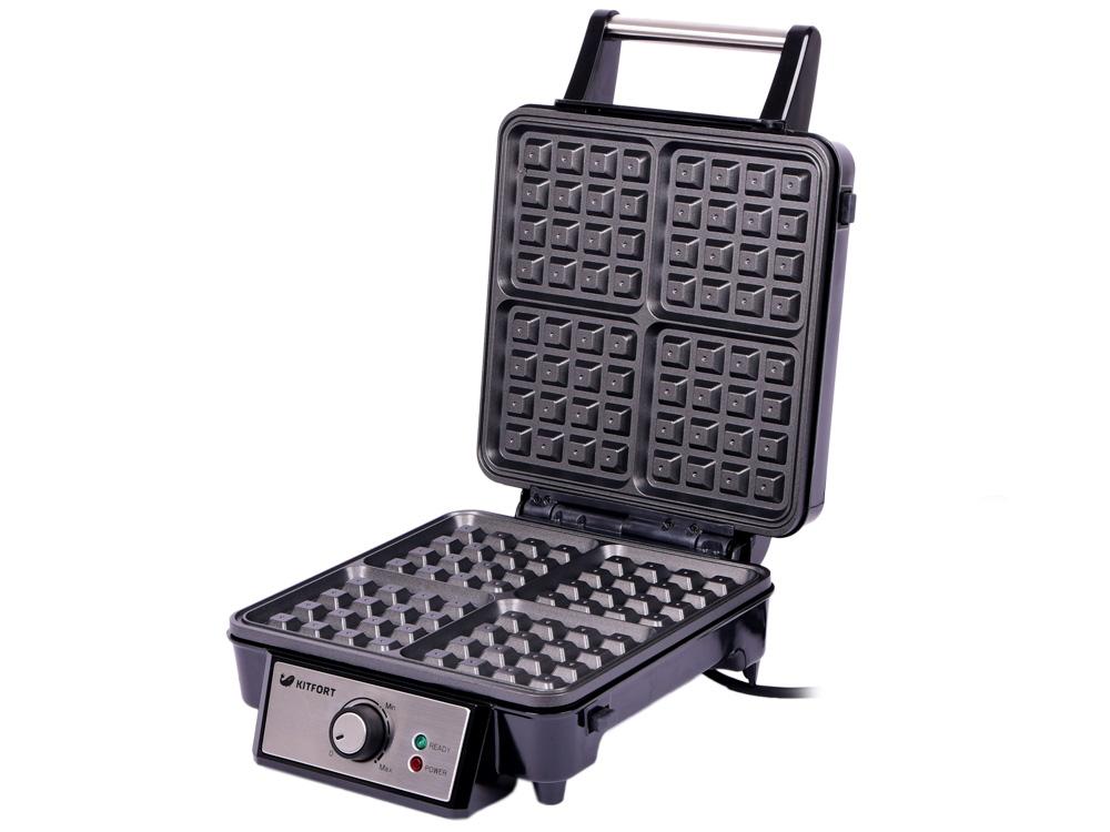 все цены на Вафельница Kitfort КТ-1613 Серебристый Мощность: 1100 Вт онлайн