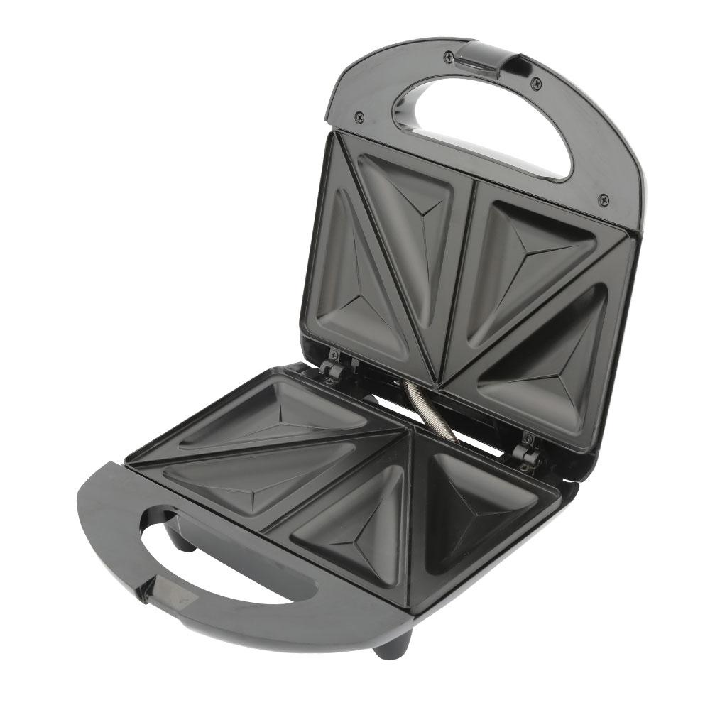 Сэндвичница Endever Skyline SM-26 черный/серебристый 800 Вт, до 4-х сэндвичей цена и фото