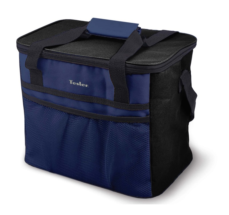 Изотермическая сумка-холодильник TESLER ICB-4032 Черно-Синий. 40л, время сохранение температуры до 12 ч цена и фото