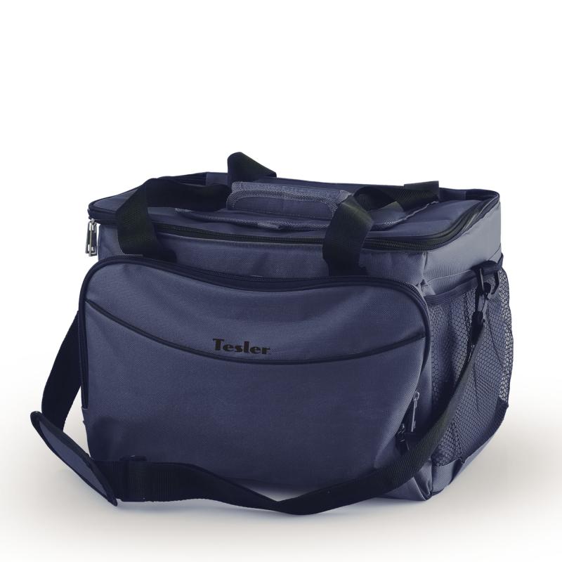 Термоэлектрическая сумка-холодильник TESLER TCB-3022, 30 л., макс охлаждение 11-15° ниже температуры окр. среды (не ниже +5°), синий цена и фото