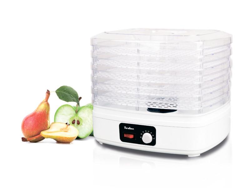Сушилка для овощей и фруктов Tesler FD-511, конвективная, 230 Вт., мех. управл, 5 поддонов, 7 л., регул. температуры, белый сушилка для овощей binatone fd 323