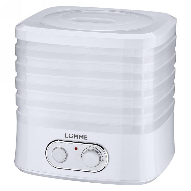 Сушилка для овощей и фруктов Lumme LU-1853 белый жемчуг фен lumme lu 1029 1200вт белый белый жемчуг
