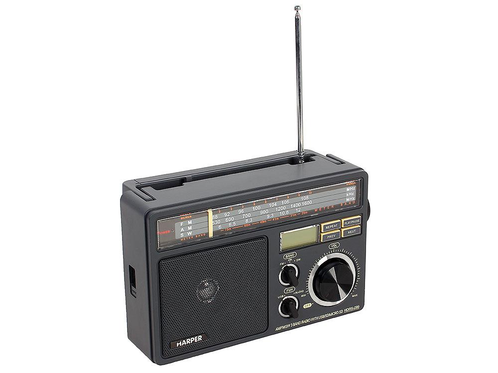 Радиоприемник HARPER HDRS-099 (Дисплей; USB; SD карта; радио)