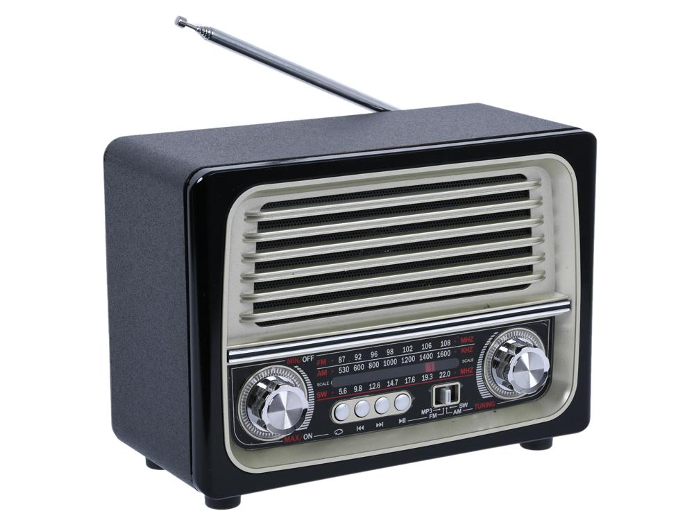 Фото - Радиоприемник MAX MR-370 Black/Gold AM/FM/SW, USB/TF, BT, мощность 5W лампочка luna led g9 eco 5w 3000k 220v 60250