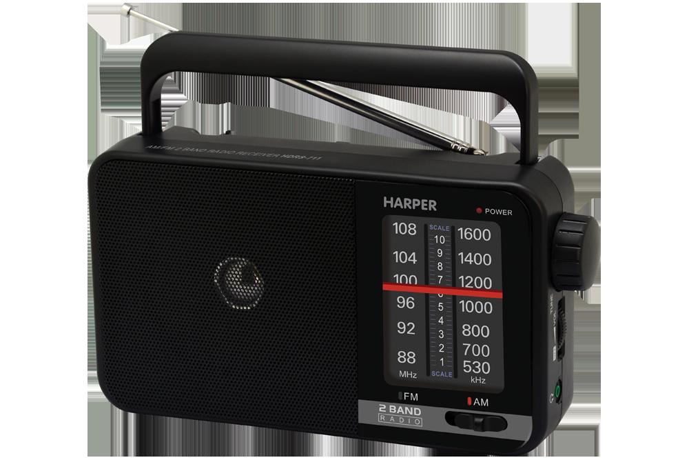 Радиоприемник HARPER HDRS-711 Черный, 3Вт, Выход на наушники радиоприемник max mr 380