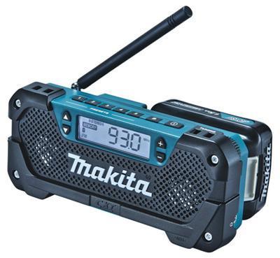 цена на Радио MAKITA MR052 186740 10.8в li-ion(слайдер) fm\am 0.5кг mp3-соединение вход aux б\акк и з\у