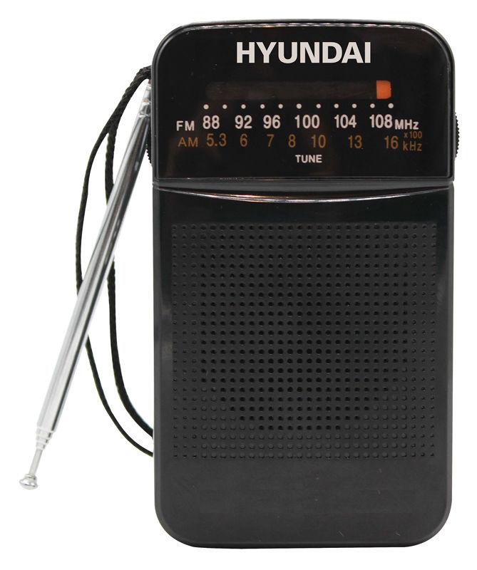 Радиоприемник портативный Hyundai H-PSR110 черный цена и фото