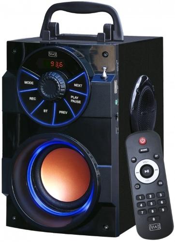 Фото - Радиоприемник MAX MR-430 FM/USB/MicroSD/AUX/Bluetooth, Аккумулятор на 1200mAh, LED дисплей, Черный аккумулятор