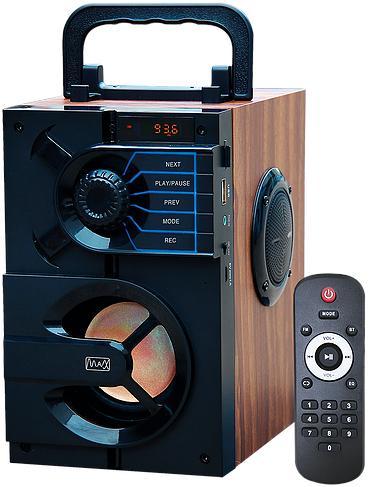 Радиоприемник MAX MR-440 FM/USB/MicroSD/AUX/Bluetooth, Аккумулятор на 1200mAh, LED дисплей, Черный аккумулятор