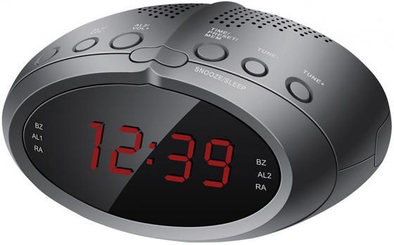 Радиобудильник Hyundai H-RCL220 чёрный радиобудильник hyundai h rcl210 красная подсветка черный