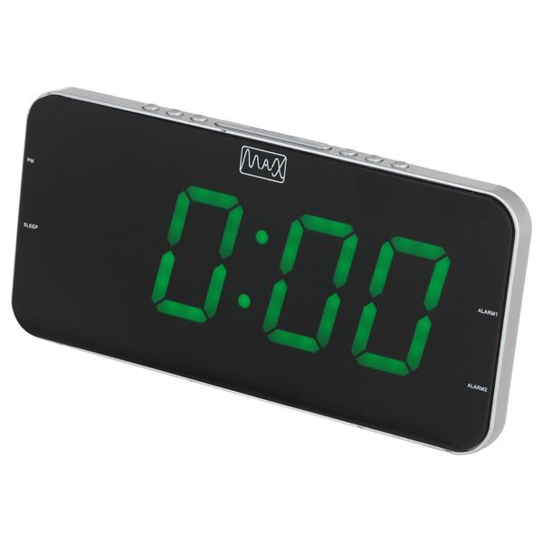 Часы с радиоприемником MAX CR-2909 Зеленый дисплей 1,8