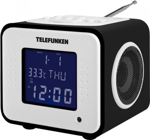 Часы с радиоприёмником Telefunken TF-1575(U) черное дерево
