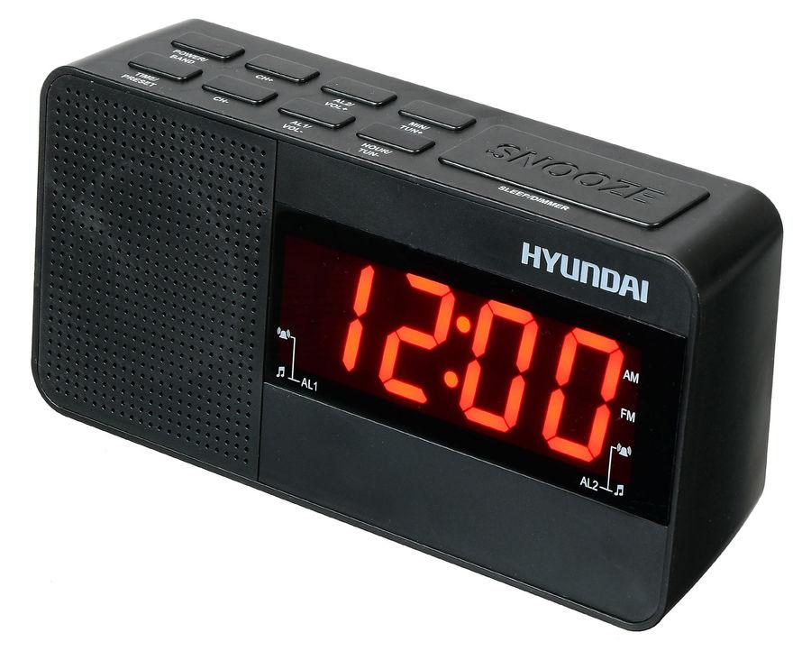 Радиобудильник Hyundai H-RCL200 чёрный цена и фото