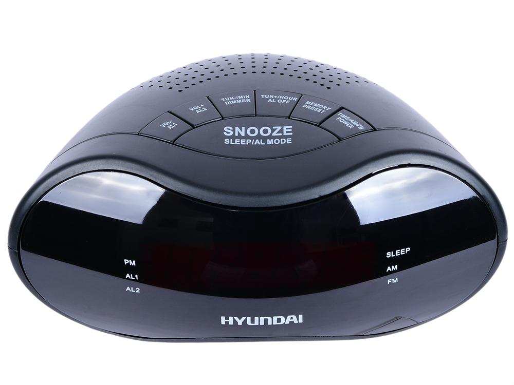 Радиобудильник Hyundai H-RCL160 чёрный цена 2017