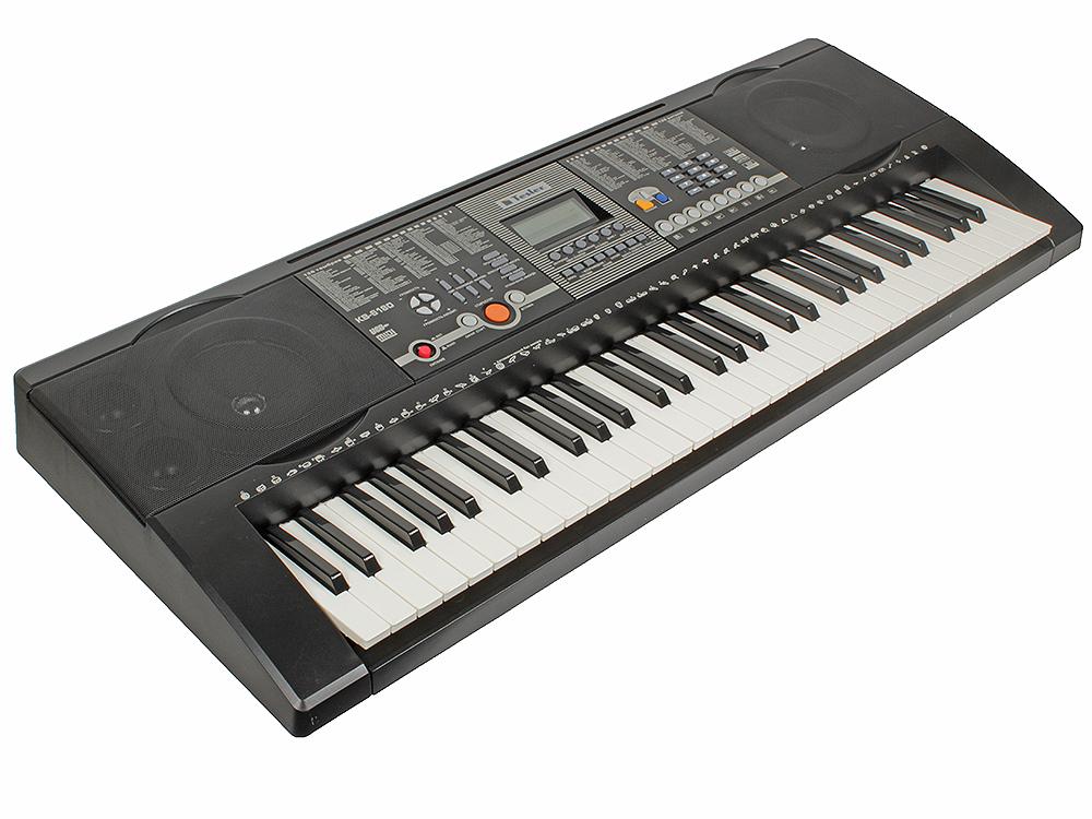 Синтезатор TESLER KB-6180 61 клавиша, большой LCD дисплей, 128 тембров/128 ритмов, 8 звуковых эффектов, 30 демопесен,автоаккомпанемент, запись все цены