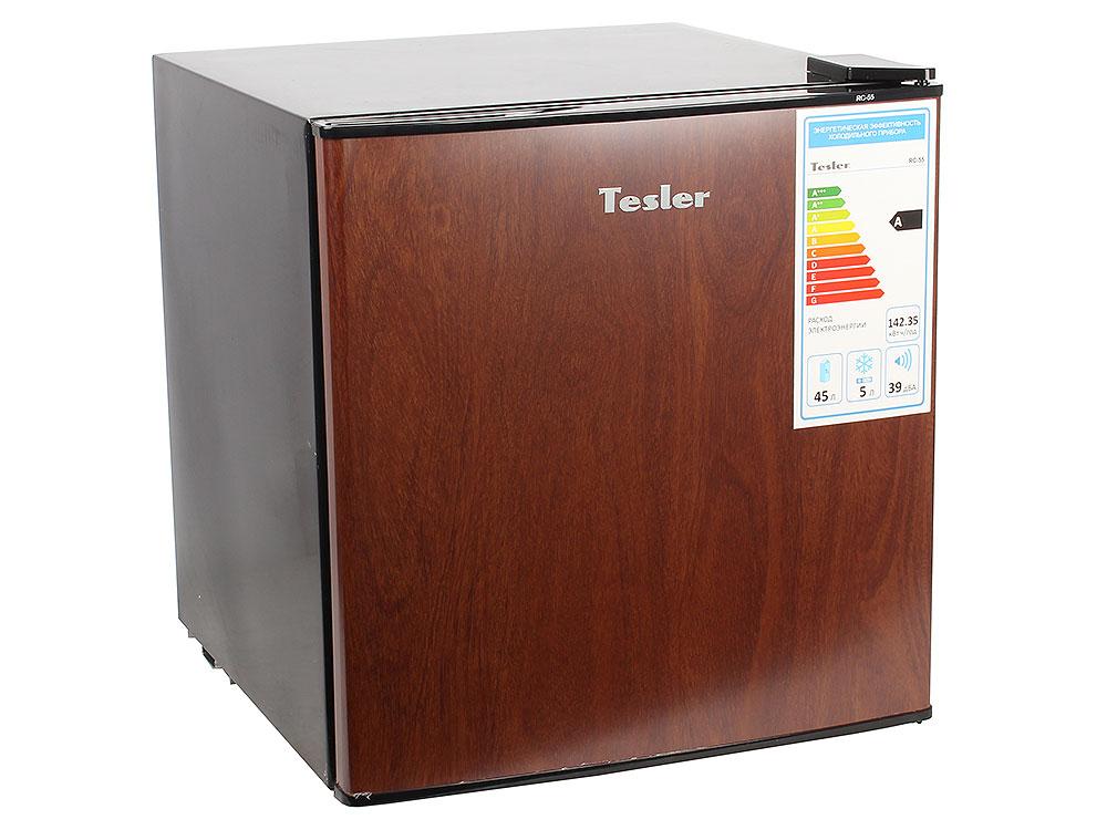 лучшая цена Холодильник TESLER RC-55 WOOD