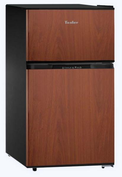 где купить Холодильник TESLER RCT-100 WOOD дешево