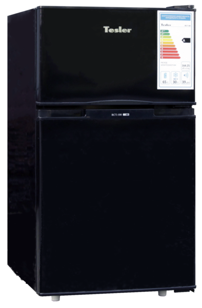Холодильник TESLER RCT-100 BLACK цена и фото