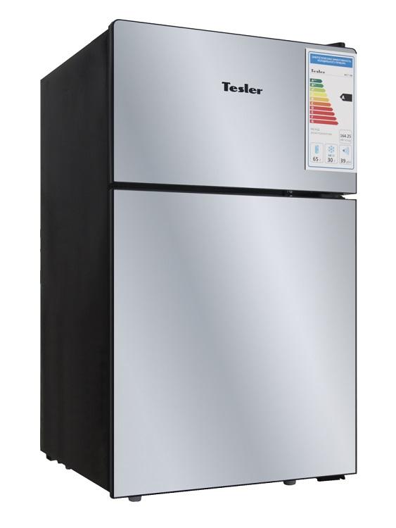 Холодильник TESLER RCT-100 MIRROR цена и фото