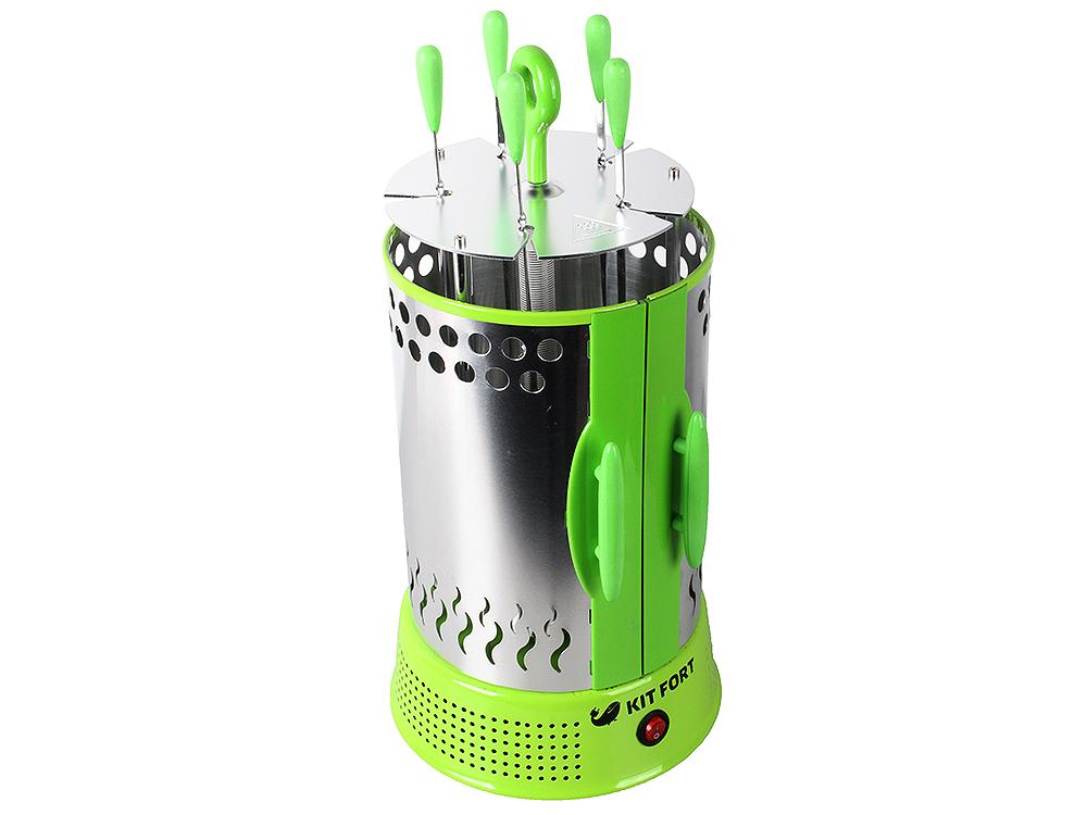 Электрошашлычница KITFORT KT-1402, инфракрасный нагрев, 5 шампуров, чашки для сбора жира все цены