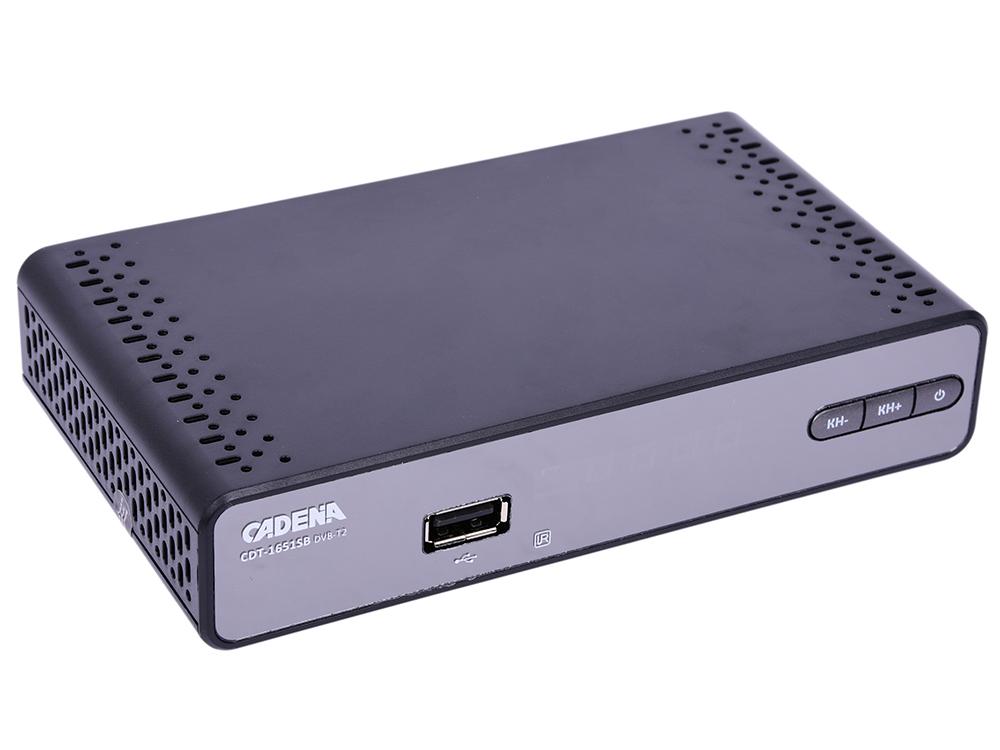 все цены на Цифровой телевизионный DVB-T2 ресивер CADENA CDT-1651SB онлайн
