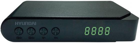 цены на Тюнер цифровой DVB-T2 Hyundai H-DVB200 черный  в интернет-магазинах