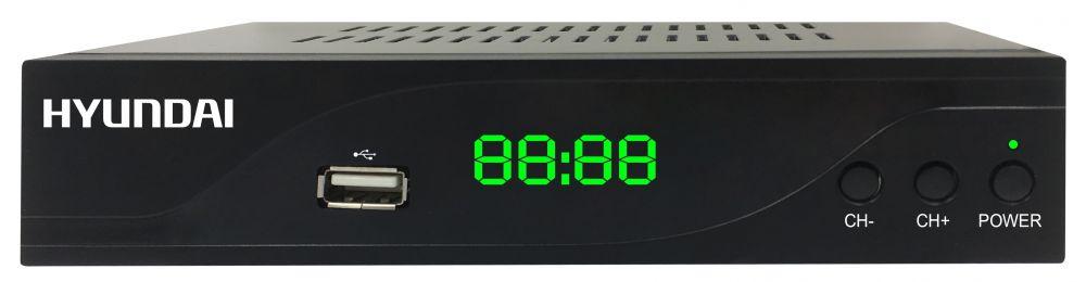 Ресивер DVB-C Hyundai H-DVB860 черный цена и фото