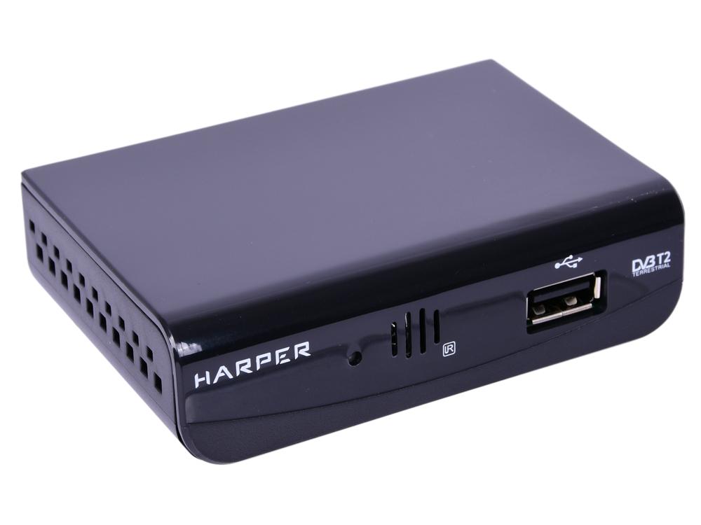 лучшая цена Цифровой телевизионный DVB-T2 ресивер HARPER HDT2-1030