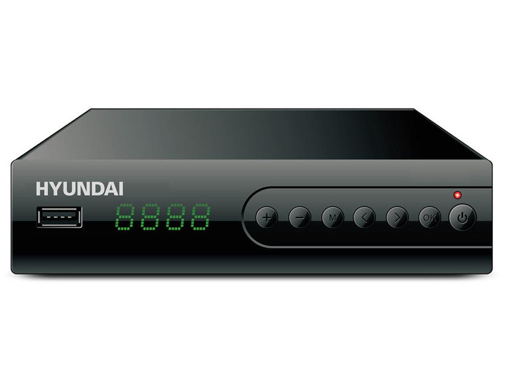 Ресивер DVB-T2 Hyundai H-DVB560 черный цена и фото