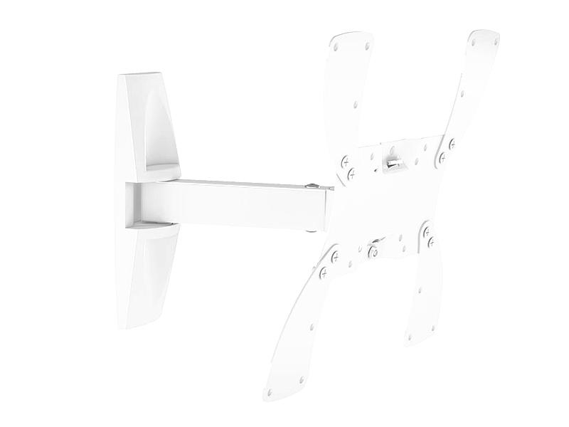 """Кронштейн для телевизора Holder LCDS-5020 19""""-40"""" White настенный, наклонно-поворотный, VESA до 300x300, до 30 кг"""