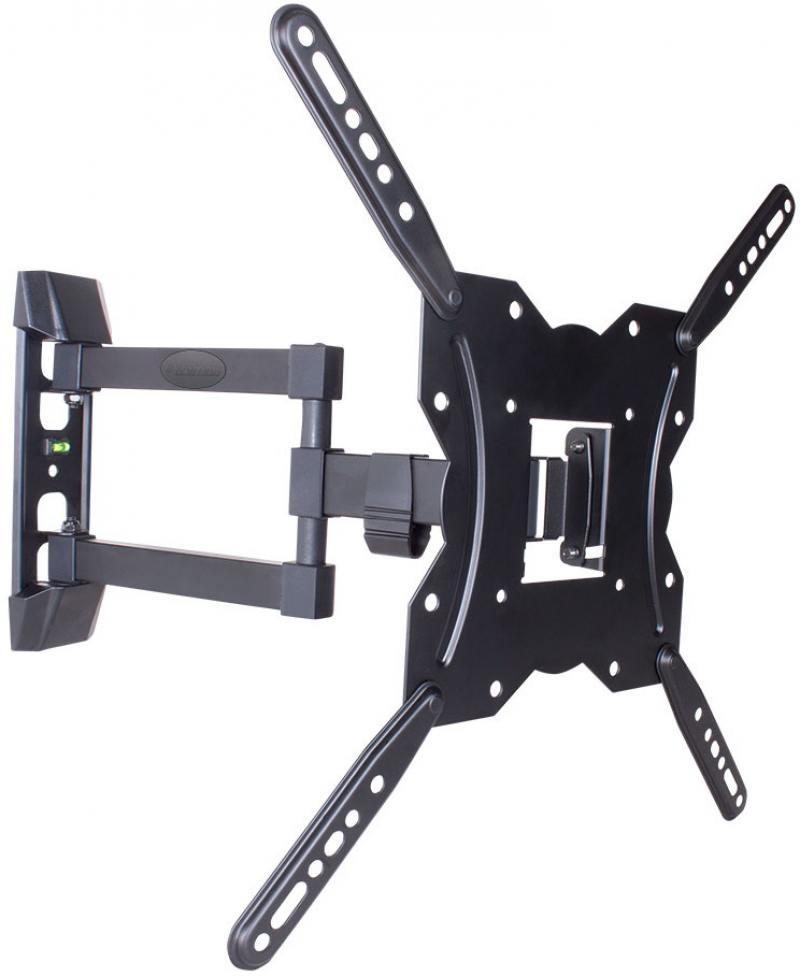 Фото - Кронштейн Kromax GALACTIC-40 Black настенный для TV 22-65, max 35 кг, 5 ст св., нак. -3+10°, пов. 180°, от ст. 62-422 мм, max VESA 400x400 коврик для йоги сита разной длины 3мм 1 5 кг 220 см 3 мм синий 60см