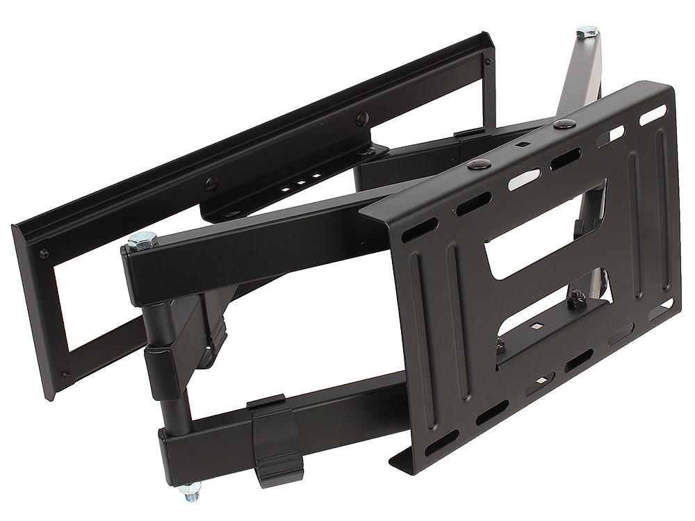 Кронштейн Kromax PIXIS-L Black настенный для TV 22-65, max 50 кг, 3 ст св., нак. +3°-10°, пов. 160°, от ст. 75-500 мм. max VESA 400x400 мм kromax pixis s