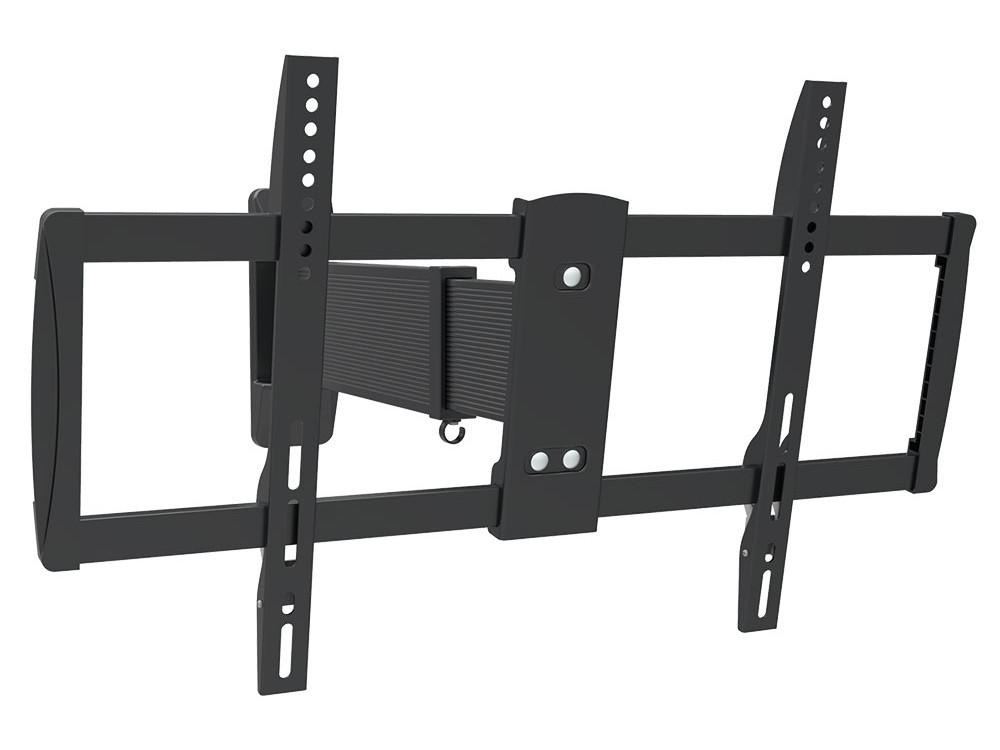 Кронштейн Arm media PARAMOUNT-200 black, настенный для TV 26-65, max 40 кг, 3 ст св., нак. +8°-12°, пов. 180°, от ст. 45-680 мм, max VESA 600x4 кронштейн arm media cobra 45 black для led lcd tv 22 65 max 45 кг настенный 4 ст свободы max vesa 400x400 мм