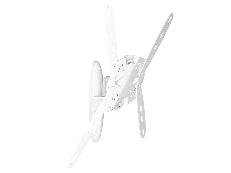 """Кронштейн для телевизора Holder LCDS-5026 26""""-60"""" White настенный, наклонно-поворотный, VESA до 400x400, до 50 кг"""