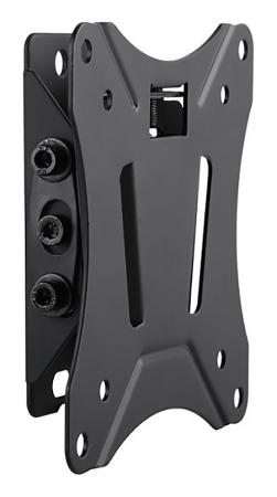 """Кронштейн Ultramounts UM830T черный 13""""-27"""" настенный от стены 34мм VESA 100x100 до 25кг"""